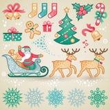 Set of christmas vector elements. Stock Photo