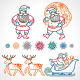 Set of christmas vector elements. Royalty Free Stock Image