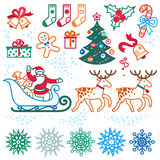 Set of christmas vector elements. Stock Photos