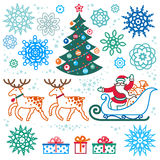 Set of christmas vector elements. Royalty Free Stock Photos