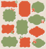 Set of Christmas Vintage Labels Frames Collection  on Be Royalty Free Stock Image