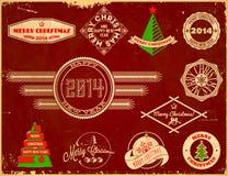Set of Christmas vintage labels. Fresh set of original Christmas themed vintage labels Stock Images