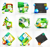 Set of Christmas web message boxes, banners Stock Photo