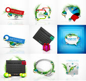 Set of Christmas web message boxes, banners Royalty Free Stock Images