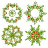 Set of christmas wreaths for your design Royalty Free Stock Images
