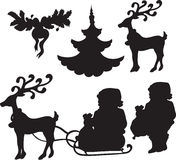 Set of Christmass icons Stock Photography