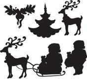 Set of Christmass icons Stock Photography