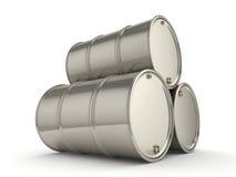 Set chrome barrels Royalty Free Stock Photo