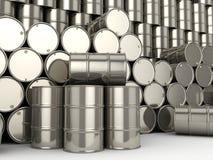 Set chrome barrels Royalty Free Stock Photography