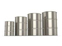 Set chrome barrels Royalty Free Stock Photos