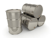 Set chrome barrels Royalty Free Stock Image