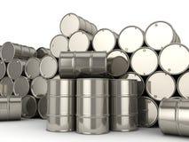 Set chrome barrels Stock Photography