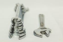 Set chromy matrycujący klucze dla locksmithing pracy Fotografia Royalty Free