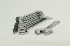 Set chromy matrycujący klucze dla locksmithing pracy Zdjęcie Stock