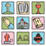 Set chrześcijaństwo symbole Obrazy Stock