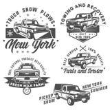 Set ciężarówka i pickup dla emlems i loga Zdjęcia Royalty Free