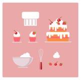 Set ciasteczko rzeczy i rzeczy wektor Obraz Royalty Free