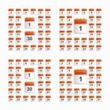 Set ścienny kalendarz Zdjęcie Stock