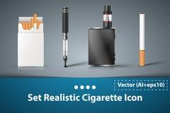 Set cigarette electronic icon. Stock Images