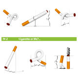Set cigarette or life №2 Royalty Free Stock Image