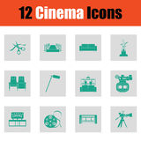 Set of cinema icons Royalty Free Stock Photos