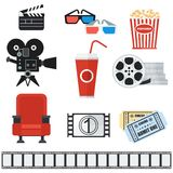 Set of cinema icons Stock Image