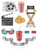 Set cinema icons stock vector illustration. Isolated on white background Royalty Free Stock Image