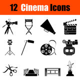 Set of cinema icons Royalty Free Stock Photography