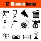 Set of cinema icons Royalty Free Stock Photography