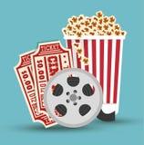 Set cinema movie icon design. Vector illustration eps 10 Royalty Free Stock Images