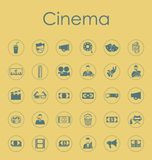 Set of cinema simple icons Stock Images