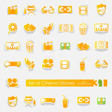 Set of cinema stickers Stock Images