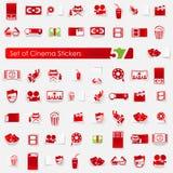 Set of cinema stickers Stock Photography