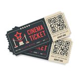 Set Cinema Tickets Royalty Free Stock Photography