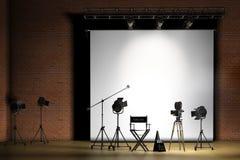 set cinematografico Immagine Stock