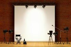 set cinematografico Fotografia Stock Libera da Diritti