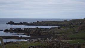 Set cinematografico di Star Wars alla baia di Breasty in Malin Head, Co Il Donegal, Ir Immagini Stock
