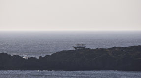 Set cinematografico di Star Wars alla baia di Breasty in Malin Head, Co Il Donegal, Ir Immagini Stock