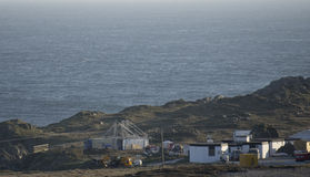 Set cinematografico di Star Wars alla baia di Breasty in Malin Head, Co Il Donegal, Ir Fotografia Stock