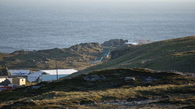 Set cinematografico di Star Wars alla baia di Breasty in Malin Head, Co Il Donegal, Ir Fotografie Stock