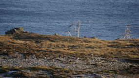 Set cinematografico di Star Wars alla baia di Breasty in Malin Head, Co Il Donegal, Ir Fotografia Stock Libera da Diritti