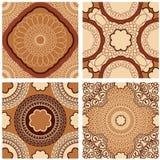 Set ciosowi tła - ornamentacyjni bezszwowi wzory Zdjęcie Stock