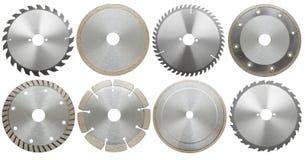 Set of circilar saw blades, isolated Royalty Free Stock Image