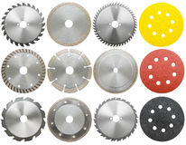 Set of circilar saw blades,  Royalty Free Stock Photography