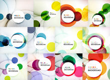Set of circle abstract backgrounds. Royalty Free Stock Photos