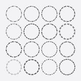 Set of circle border decorative, arrows symbol patterns and design elements Royalty Free Stock Photography