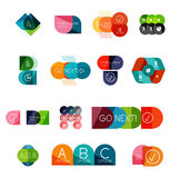 Set of circle business infographic templates. Set of  circle business infographic templates. Colorful elements Stock Images