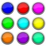 Set of circle button Stock Photography
