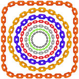 Set of Circle Colorful Chain Frames Isolated Stock Photo