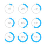 Set of circle diagrams for infographics Royalty Free Stock Photos